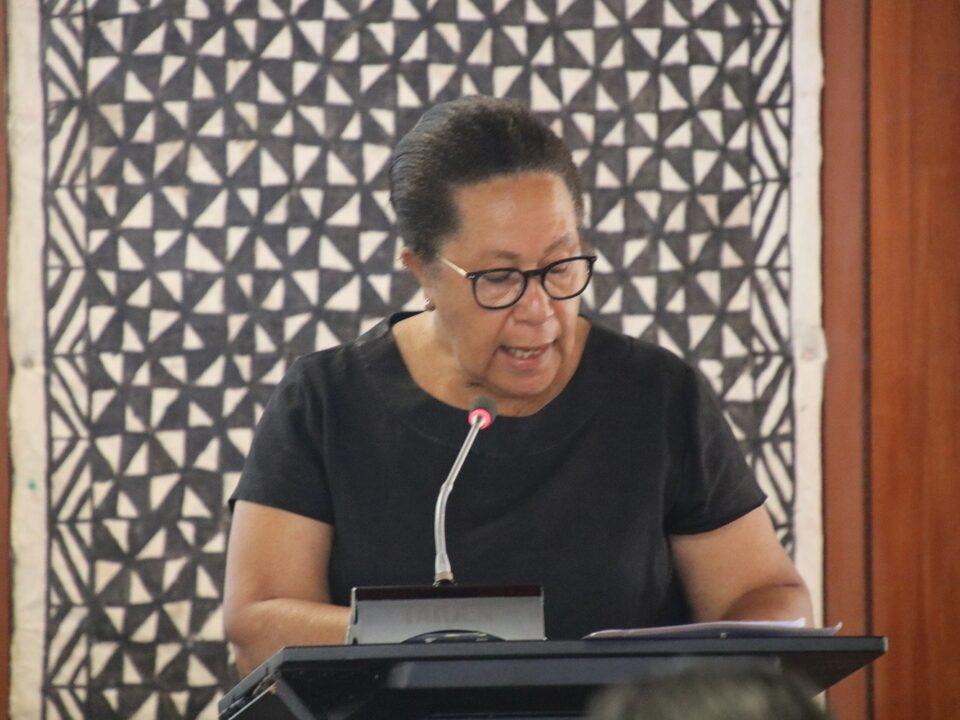 Dame Meg Taylor to Biketawa Plus Workshop