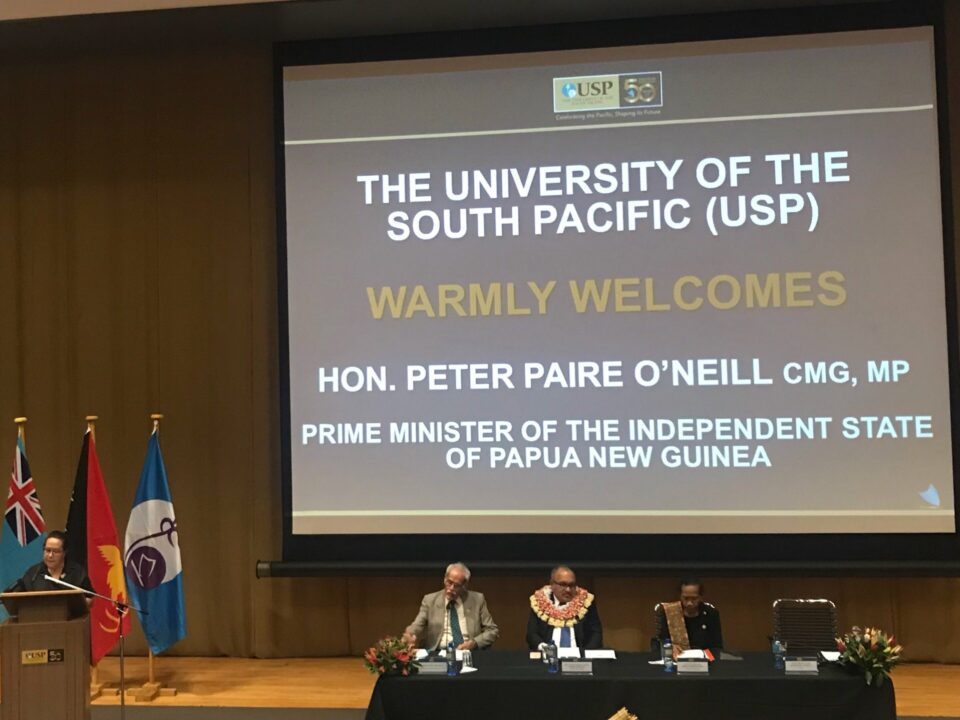 SG Speaking at Public Lecture by PM O'Neill