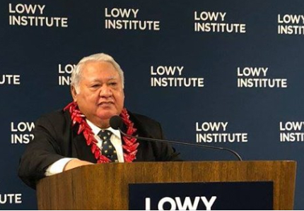 Samoa PM at the Lowy Institute
