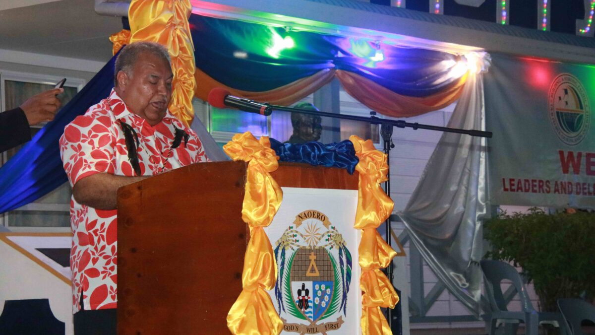 President Waqa delivering Forum Chair speech