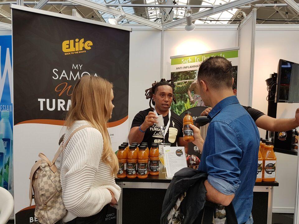 Etu Tusitala in action at Caffe Culture 2018, Oct 2018