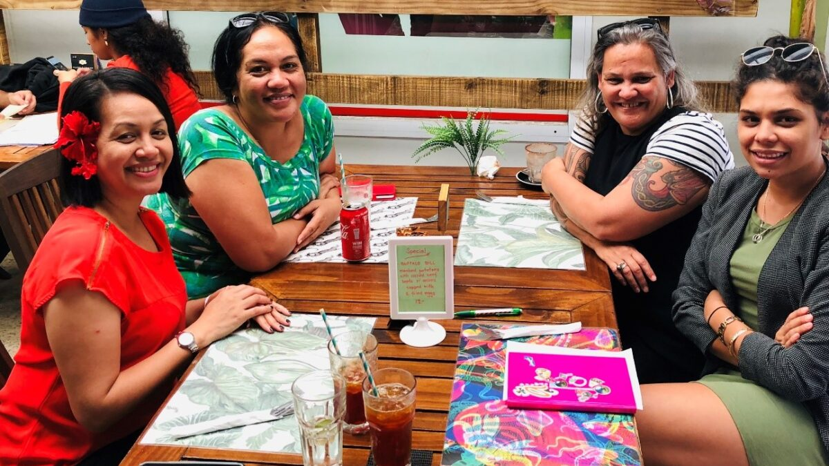 Ms Tasha Siaosi at far left, with officials from MFAI including Pacific Division FAO Antonina Browne at far right.
