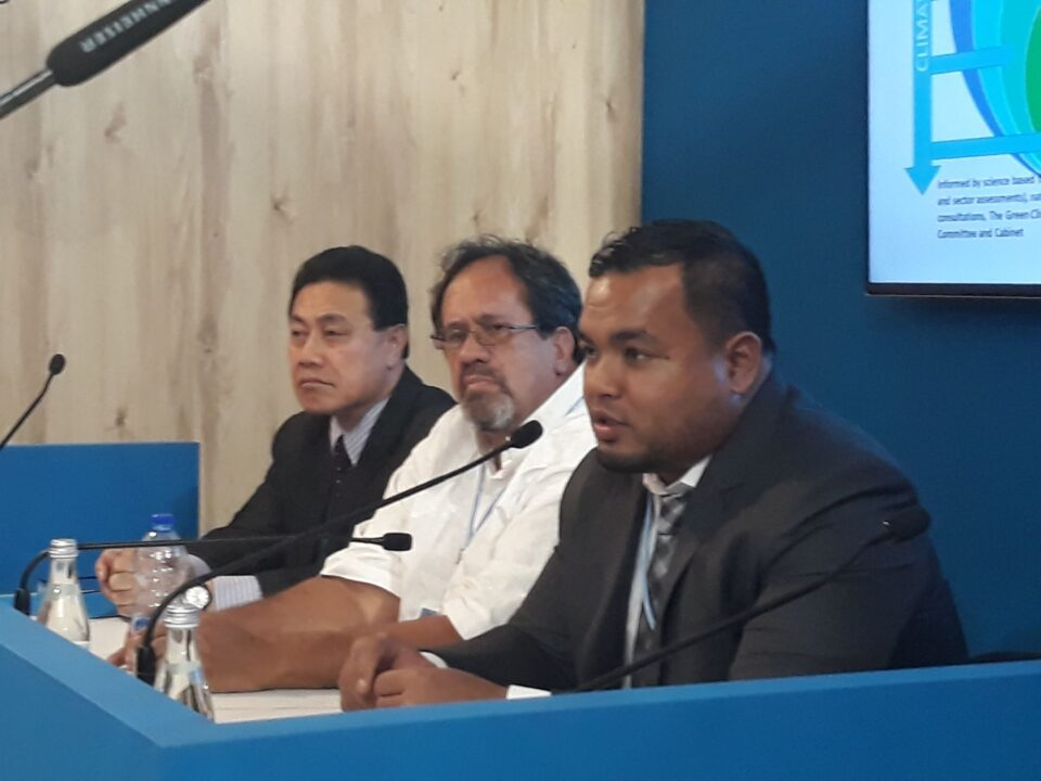 Samoa, Cook Islands, & Kiribati Climate Finance Representatives at COP24