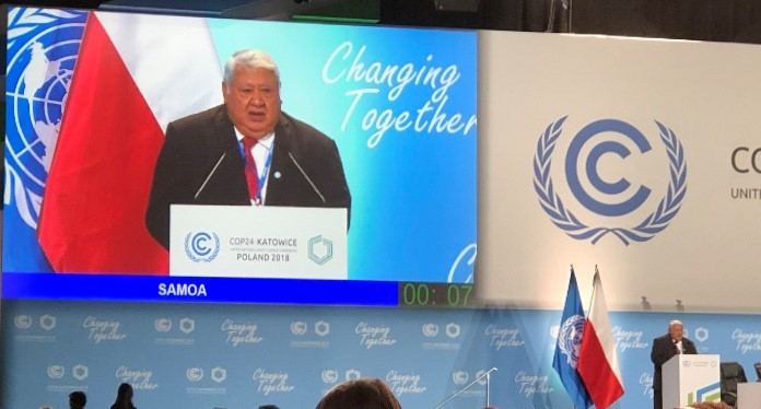 Samoa PM at COP24