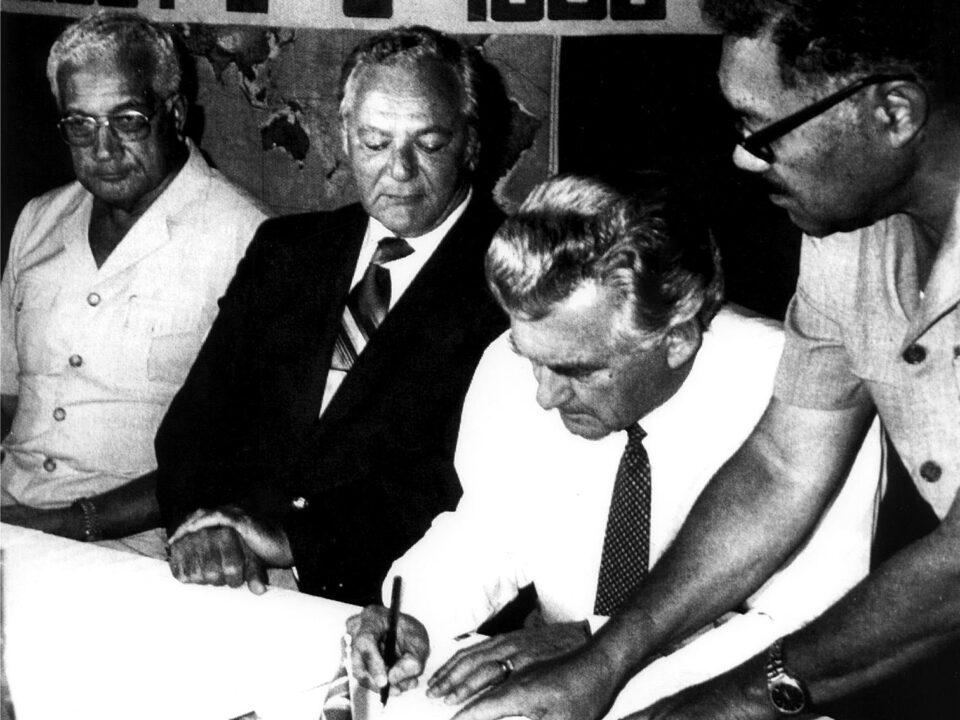 Adoption of the Rarotonga Treaty in August 1985